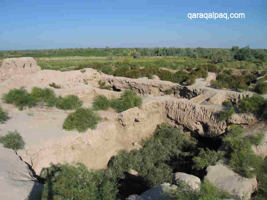 The remains of Qoy Qirilg'an Qala