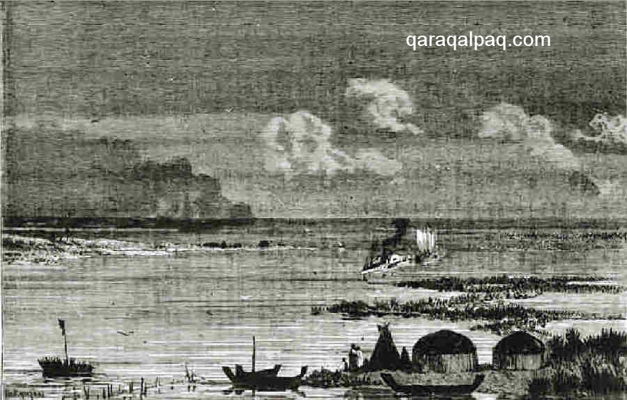 Sketch of Qaraqalpaq yurts in the mouth of the Ul'ken Darya,  			by Nikolay Karazin