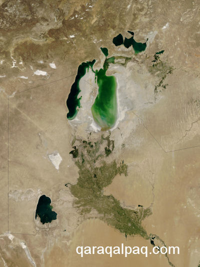 The Aral Sea in September 2003