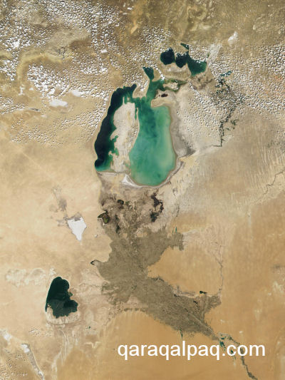 The Aral Sea in May 2001
