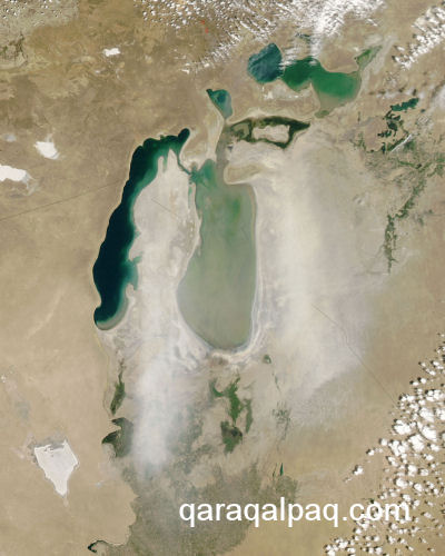 The Aral Sea in June 2006