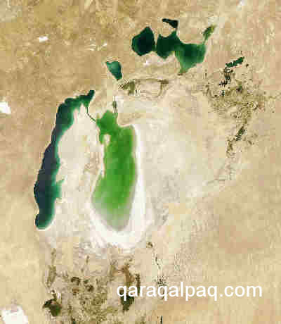 The Aral Sea in August 2006