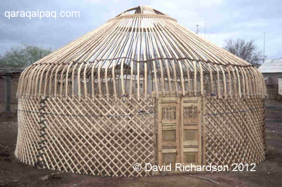 Carcass of a new Qaraqalpaq yurt