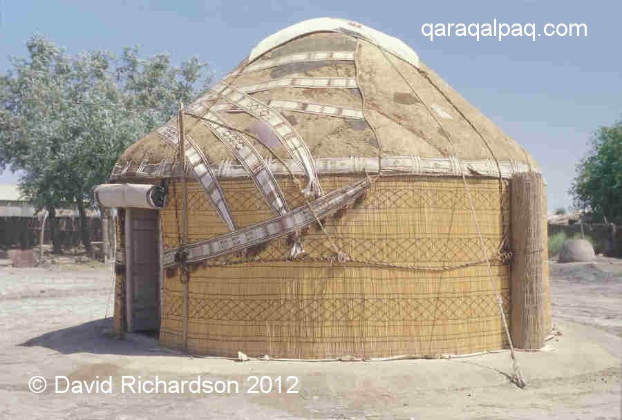 Qaraqalpaq yurt showing conical roof