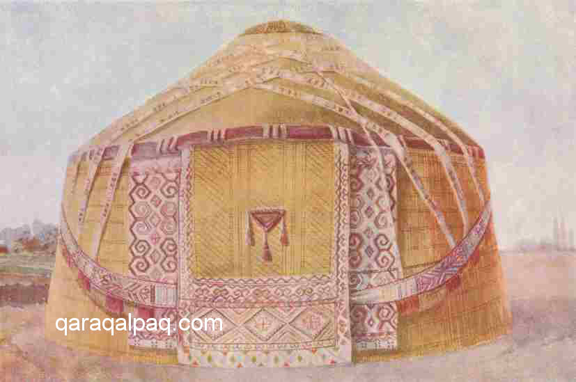Idealistic image of the Qaraqalpaq yurt