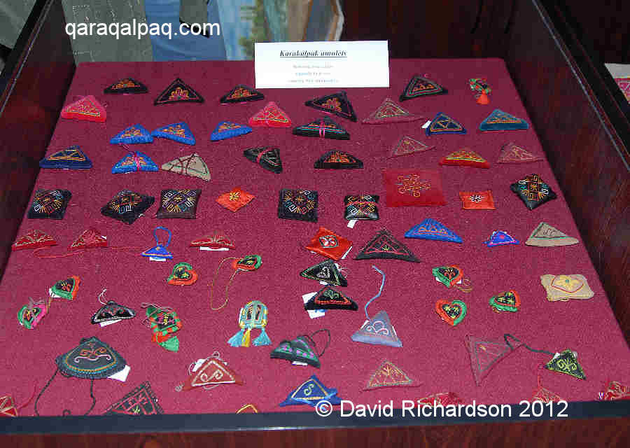 Embroidered amulets