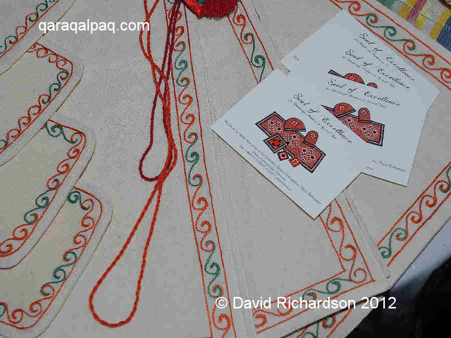 Embroidered table mats